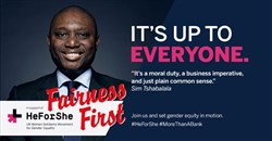 #FairnessFirst: SA's Standard Bank commits to global #HeForShe movement