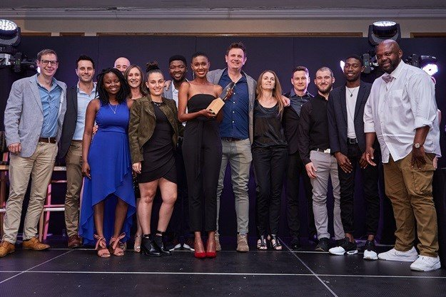 The Playmakers team receiving their Agency of the Year Award |