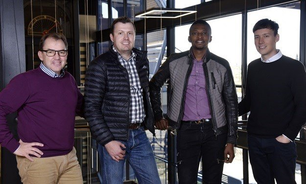 L-R: Wouter de Vos, CEO, Atterbury Property Fund; Rian Reyneke, CEO, Ithemba; Tebogo Mogashoa, group chairman, Talis Property Fund; and Carel Kleynhans , executive director, Ithemba