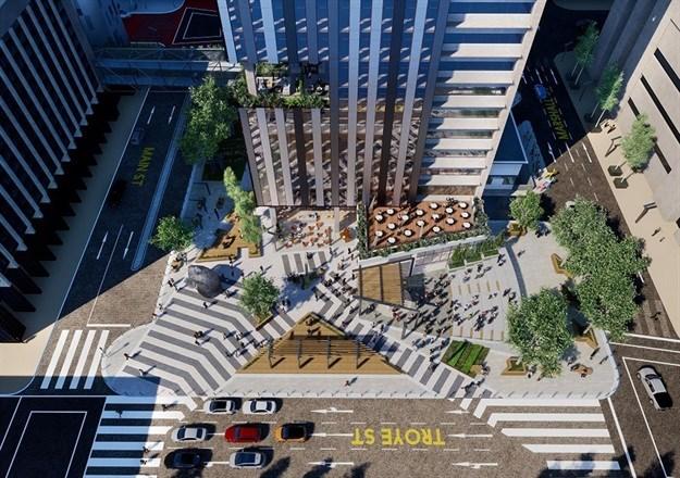Future redeveloped ABSA Tower precinct.