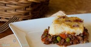 #GreenMondaySA: Mushroom lentil shepherd's pie