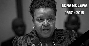 Enda Molewa, who died in September, granted permission for coal to be mined in a protected area, when she was minister of environmental affairs. Photo from