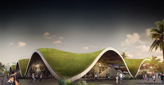 PDG Architects designs monolithic green roof for Antalya bazaar