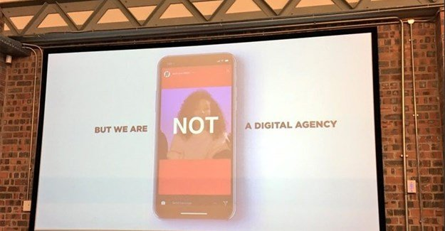 Brad Reilly of Network BBDO's presentation at the Red & Yellow School's #DigitalAgencyShowcase. Image via Shae Leigh of Red & Yellow School .