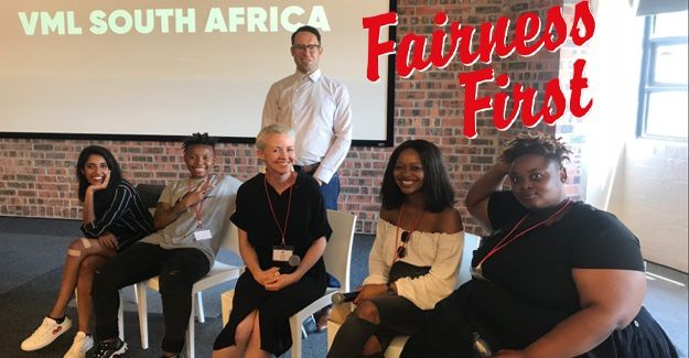 Team VML South Africa, presenting at the Red & Yellow School's #DigitalAgencyShowcase. Image via VML SA .