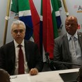 Dr Fatih Birol, executive director, International Energy Agency, and South African Energy Minister Jeff Radebe