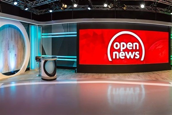 The Open News studio.