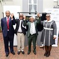 From left to right- IDC CEO, Mr. Geoffrey Qhena; Chief from Ximba Community, Chief Zibuse Mlaba; KZN Economic Development, Tourism & Environmental Affairs MEC, Sihle Zikalala; EThekw.