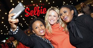 A selfie taken by Mchunu, with Emma Sadleir and Basetsana Kumalo at the FNB and ECR Business Women's Breakfast earlier this year – #BeUnstoppable.