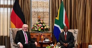 German President Frank-Walter Steinmeier and President Cyril Ramaphosa