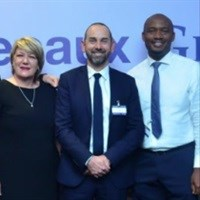(L-R): Adelaide McKelvey, sales and marketing director, JCDecaux Sub-Saharan Africa; Mark Cooper, CEO, JCDecaux Sub-Saharan Africa and Opeoluwa Filani, sales director, Horizon Outdoor Advertising.
