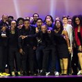 Joe Public United, on stage at Loeries 2018 after their 'Agency of the Year' win.
