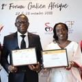 Minister of Health of Burkina Faso, Professor Nicolas Meda and Minister of Health of Rwanda, Dr Diane Gashumba