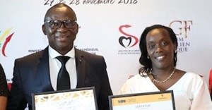 Minister of Health of Burkina Faso, Professor Nicolas Meda and Minister of Health of Rwanda, Dr Diane Gashumba