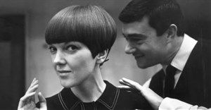 Mary Quant with Vidal Sassoon, 1964. Photograph by Ronald Dumont, Image courtesy of V&A Museum