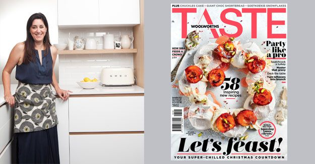 Editor Kate Wilson with the December 2018 issue of Woolworths Taste.