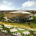 Foster + Partners release golden stadium design for 2022 FIFA World Cup