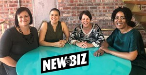 From left to right - Janine Kruger - group COO, Samantha Gabriel - group managing director, Lesley Waterkeyn - Group CEO and Lele Mehlomakulu - non-executive director and shareholder.