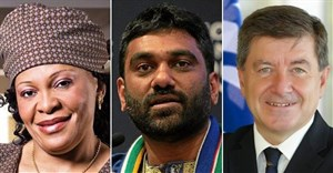 L-R: SA's minister of environmental affairs Nomvula Mokonyane; Kumi Naidoo, secretary general of Amnesty International; Guy Ryder, director-general of the International Labour Organisation
