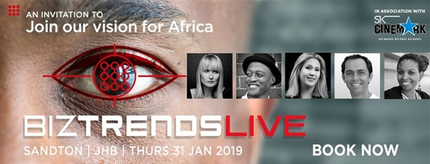 BizTrendsLIVE! January 2019 speaker line up