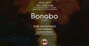 Ryan Murgatroyd, Kid Fonque, TheLazarusman to join DJ Bonobo at Sounds Wild
