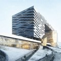 Morphosis designs multi-bridged form building in Sejong City