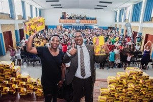 Together with Shimza, Bata hands over Toughees school shoes to hundreds of orphaned children