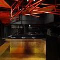 Moriyuki Ochiai Architects creates red latticework on ceiling of Japan restaurant