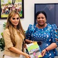 Dr Rasha Kelej, CEO of Merck Foundation with first lady of Ghana, Rebecca Akufo-Addo. Image supplied by APO.