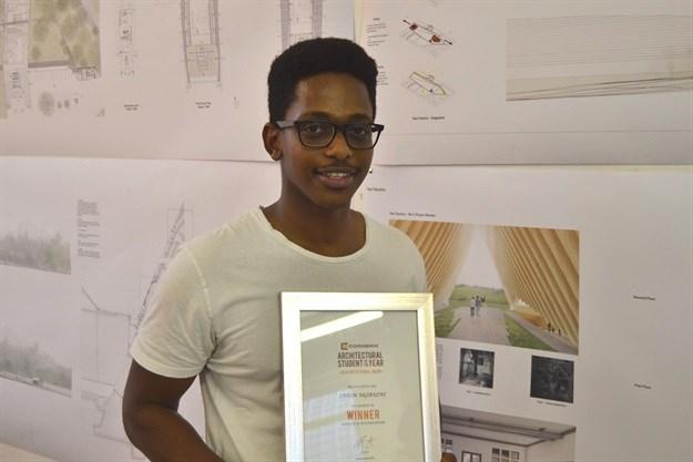 Jason Ngibuini, regional winner in the 32nd Corobrik Architectural Student of the Year Award