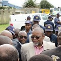 Minister of MIneral Resources Gwede Mantashe visited Gloria Coal Mine last week, where 22 men are trapped underground, presumed dead. Photo: Ciaran Ryan