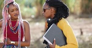 Kenyan filmmaker, Wanuri Kahiu, on the set of her film, Rafiki.