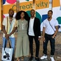 Young creatives from left - Cedric Nzaka, Nandi Dlepu, Morena Sefatsa and Yanga Yaya at the 2019 Design Indaba.