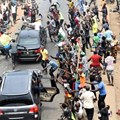 Nigerians celebrate the announcement of Muhammadu Buhari's victory. But can he deliver jobs this time round? EPA/Stringer
