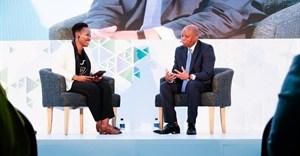 Zipho Sikhakhane, global speaker, entrepreneur and business strategist interviewing mayor Herman Mashaba, founder of Black Like Me.