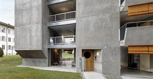 Gus Wüstemann Architects completes concrete affordable housing in Zurich