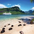 The Crystal Serenity at Mo'orea Beach, French Polynesia.