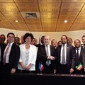 Signing of Franco-Ethiopian cooperation agreements.