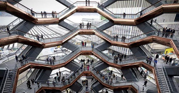 Heatherwick Studio-designed Vessel at Hudson Yards opens to public