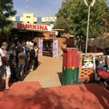 The entrance to Fespaco's main venue, Cinema Burkina. Credit: Pier Paolo Frassinelli.