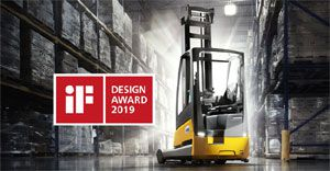 ETV 216i reach truck wins prestigious iF Design Award