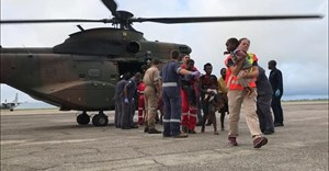 South African teams on the ground in Mozambique, aided by the South African Air Force. Image credit: IPSS Medical Rescue/Paul Herbst.