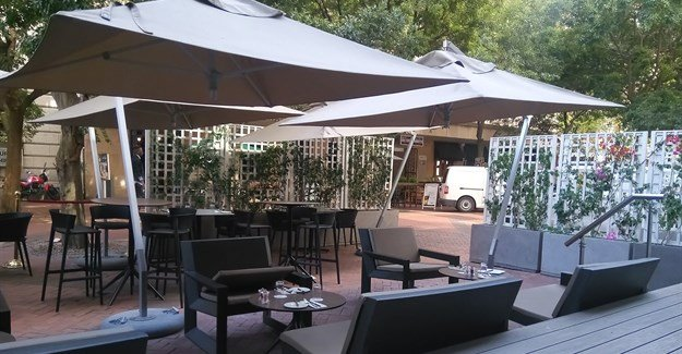 The newly revamped terrace at Mint Restaurant.