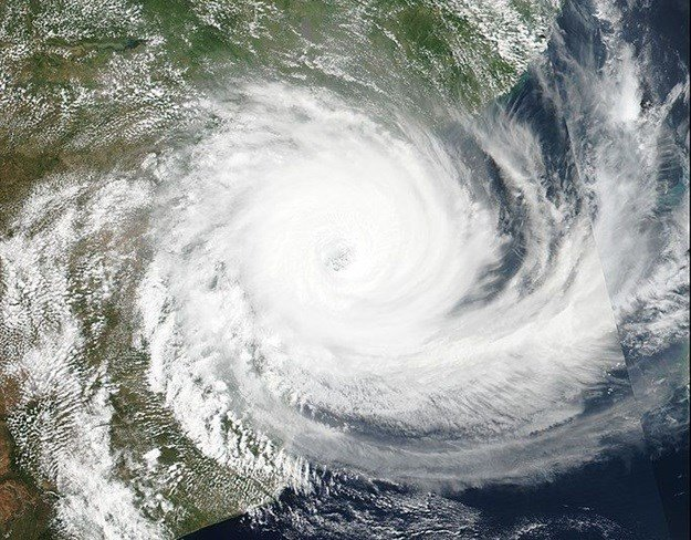 Tropical cyclone Idai nearing Mozambique. Image by NASA - Suomi NPP Satellite,