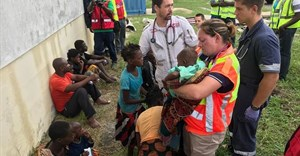 Mozambique rescue effort. Credit: 