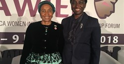 (L-R): Zanele Mbeki, former First Lady of South Africa and Irene Ochem, AWIEF founder and CEO. Credit: AWIEF.
