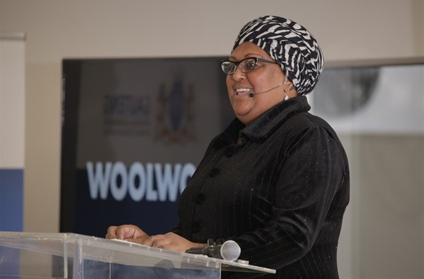 Woolworths SA's Zyda Rylands speaking at the launch. Credit: Woolworths
