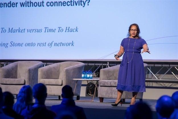 Jaya Baloo speaking at a previous Singularity University Summit.