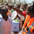 Cholera vaccines have been given to people in Beira after an outbreak following Cyclone Idai. EPA-EFE/Celeste Mac-Arthur