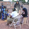 Malaria detection campaign in the Bobo-Dioulasso (Burkina-Faso) in collaboration with the Institut de Recherche en Sciences de la Santé. Elena